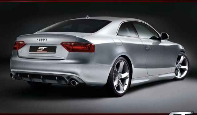rear bumper nansatz rear apron diffusor audi a5 8t not. Black Bedroom Furniture Sets. Home Design Ideas