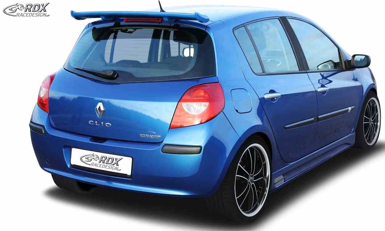 rdx heckspoiler renault clio 3 phase 1 2 dachspoiler. Black Bedroom Furniture Sets. Home Design Ideas